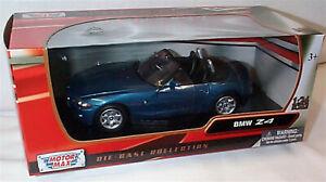 BMW Z4 in Blue New in box 1-24 scale model Motor Max