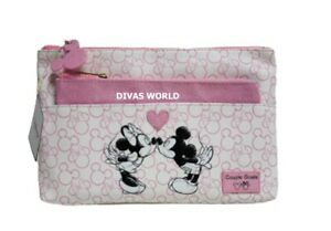Disney Mickey Minnie Toiletry Bag Twin Purse Makeup Zip Up Pouch Gift Primark