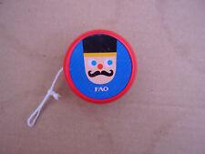 FAO Schwarz Wooden YoYo Nutcracker Soldier &  Bear Design Yo-Yo