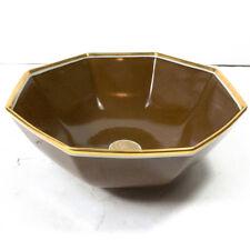"""Vintage FITZ & FLOYD Medallion D'Or Brown & Gold Large Serving Bowl 9.25"""""""