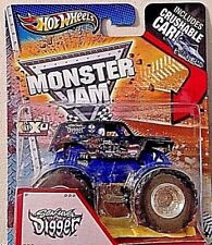 HOT WHEELS 2013 MONSTER JAM SON UVA DIGGER WITH CRUSHABLE CAR RARE! HARD 2 FIND!