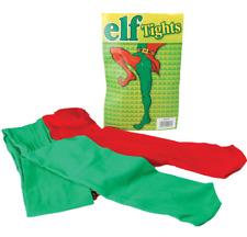 Ladies Mens Elf Santas Helper Xmas Christmas Fancy Dress Costume Outfit Tights