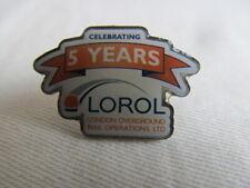 Railway Pin Badge: LONDON OVERGROUND 2012 Anniversary 5 Years RARE Unused