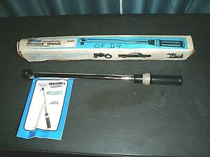 """VINTAGE Sears Craftsman Microtork 1/2"""" Torque Wrench 9-44476 150 ft lbs USA NOS"""