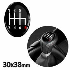 Gear knob Shift Pattern Levier Autocollant 3D bombée Universel badge Vitesse 5 40 R rouge