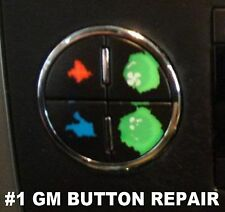 A/C Repair Kit Button Dash AC Replacement 2007-2013 fits GM Chevy Decal Stickers