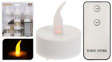 10 x LED Teelichter mit Fernbedienung - flackernd - Teelicht Kerzen mit Batterie
