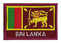 Patch écusson patche drapeau SRI LANKA 70 x 45 mm Pays Monde Asie brodé