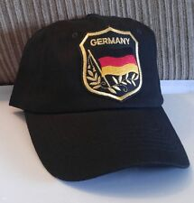 Germany Flag Baseball Cap German Flag in Shield Hat Black Unstructured Hat