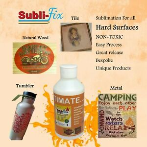 """""""Sublimation Coating NEW"""" NON-TOXIC Subli-fix for all Hard Surfaces Roll on"""