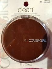 COVERGIRL CLEAN NORMAL SKIN PRESSED POWDER FOUNDATION 155 SOFT HONEY FACE MAKEUP