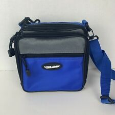 Case Logic Portable CD Player Carrying Case Blue Black and Gray EUC