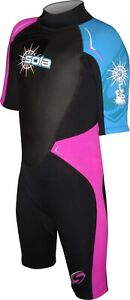Sola Kids Child Shorty Wetsuit Girls 3/2mm Age 7, 8, 9, 10, 11, 12, 13, 14 SALE