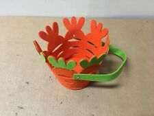 Easter Orange and Green Felt Basket