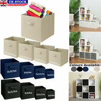 Foldable Square Canvas Storage Collapsible Folding Box Fabric Cubes Toys Clothes