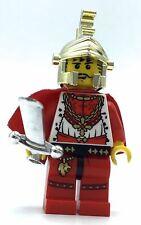 LEGO CASTLE MINIFIGURE WITH CHROME HERO SWORD & GOLD DRAGON KNIGHT HELMET RARE