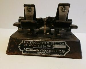 Griswold Film Splicer Jr. Model 8 &16mm (Neumade Pro.Corp. NY)  Heavy Metal