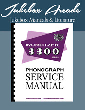 Wurlitzer 3300, 3310 Complete Service Manual & Parts Lists and Troubleshooting