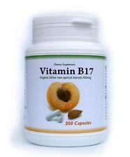 Organic Apricot Kernels 300 capsules 400mg each, Vitamin B17