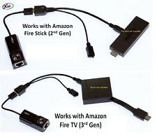LAN Ethernet connector & USB adapter for Amazon Fire Stick - Brand New