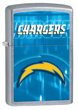 Zippo Street Chrome Lighter With San Diego Chargers Logo,  28591, New In Box