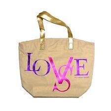 Victoria's Secret Tote Bag Shopper Love Vs Purse Handbag Bling Foil New Nwt