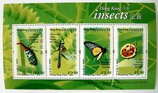 INSECT STAMPS SHEET OF 4 2000 HONG KONG BEETLES BUGS DRAGONFLY BUTTERFLY LADYBUG