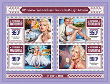 Togo 2016 MNH Marilyn Monroe 90th Anniv 4v M/S Movie Stars Celebrities Stamps