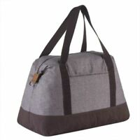 Thirty one Retro Metro Weekender travel gym Duffel bag 31 gift Mocha Crosshatch