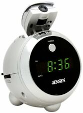 Jensen JCR-222 AM/FM 0.6-Inch LED Display with Time Projection Clock Radio (NEW)
