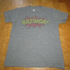 Big Bang Theory Bazinga T-Shirt Adult Size Large Gray