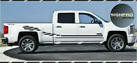 Chevy SILVERADO Fits Sierra 1500, 2500, 3500  Side Stripes Decals Graphic Rally