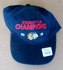 2010 Chicago Blackhawks Hockey STANLEY CUP CHAMPIONS -- Black Reebok HAT tb