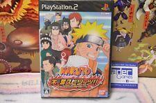 NEUF NEW   NARUTO KONOHA SPIRITS , Playstation 2 Japanese Ver. Sealed , Emballé