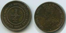 G6185 - Straits Settlements ¼ Cent 1916 KM#27 RAR British India Government