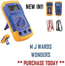 LCD Digital Multimeter Voltmeter Ammeter AC DC OHM Tester Range Buzzer +Battery