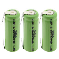 3x Exell 1.2V 2/3Aaa 300mAh NiMh Rechargeable Batteries w/ Tabs Fast Usa Ship
