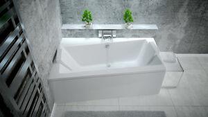 Offset Corner Bath *INFINITY* SPACE SAVER 1500 x 900mm BATHTUB 150 x 90 full set