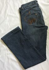 Apple Bottoms Women's Embroidered Jeans Medium Wash Size 7/8
