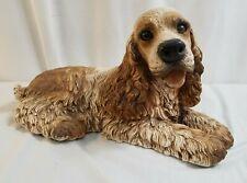 "1986 HOMCO Large 8"" x 14"" Resin Cocker Spaniel Dog Statue Figurine"