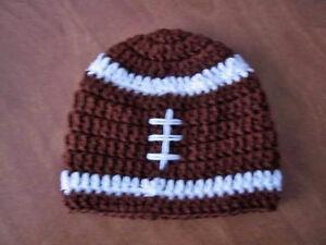 U CHOOSE SIZE! FOOTBALL crochet baby hat MADE IN USA! newborn - toddler sports