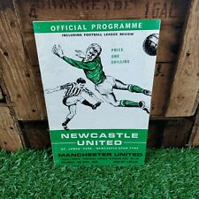 Newcastle United v Manchester United 1970 Football Programme
