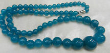 """Beautiful! Natural 6-14mm apatite Round Beads Necklace 17.5""""AAA+006A"""