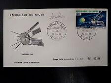 NIGER  AERIEN 61  PREMIER JOUR FDC    SATELLITE D 1        100F      1966