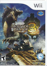 CAPCOM Monster Hunter Tri 3 Nintendo Wii COMPLETE LN/CIB Free US Padded Shipping