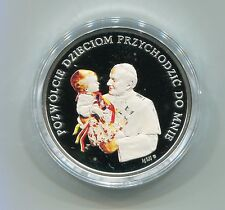 2007 Pope John Paul II Poland Silver Colored Medal Let the Children Come to Me