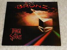 BRONZ  Taken By Storm  LP IMPORT UNPLAYED  top seam split