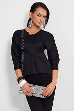 Elegant Women's Formal Top 3/4 Sleeve V Neck Blouse Sizes 8 - 12 FK1211