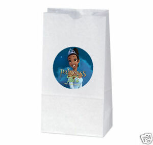12 The Princess and The Frog Birthday Favors Custom Tiana Treat Bag Stickers