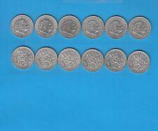 Pays-Bas Lot de  6 pièces de 1 Florin argent de 1955, 1956 & 1957 Lot numéro 2